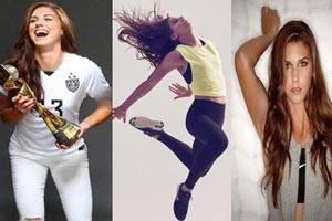 زیباترین فوتبالیست زن جهان الکس مورگان + گالری تصاویر داغ