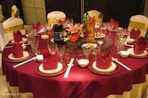 سفره آرایی و تکنیک های چیدمان میز شام + تصاویر