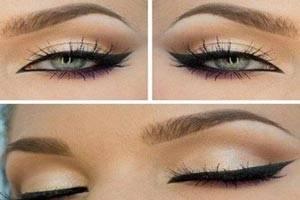 آموزش تصویری کشیدن خط چشم برای انواع پلک