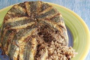 طرز پخت ته چین ماهی کیلکا با فر