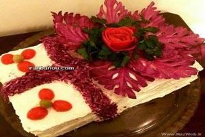 تزئین های مدل کیک مرغ مجلسی