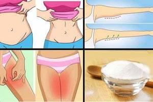 روش از بین بردن چربی شکم و ران با جوش شیرین